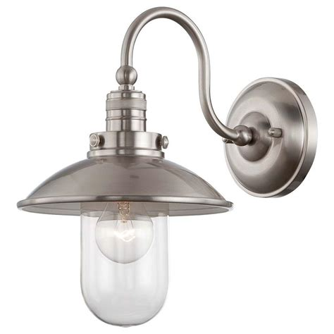 Brushed Nickel Sconce Minka Lavery Downtown Edison Brushed Nickel Sconce 71162