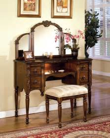 Vanity Set For Makeup Sale 883 00 Ashton Oak Vanity Set With Tri Fold Mirror