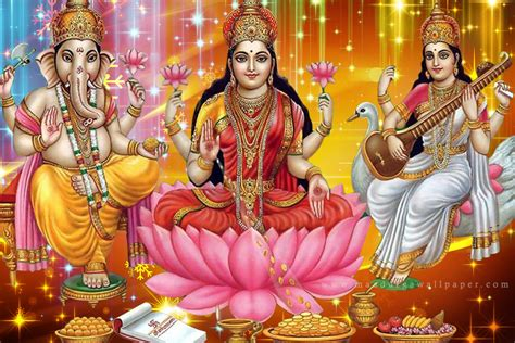 How To Decorate Home Temple by Laxmi Ganesh Saraswati Photo Wallpaper Amp Hd Images Download