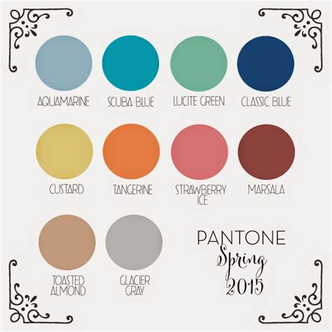 2015 color palette of the year get inspired with pantone s 2015 color palette kristina wolf