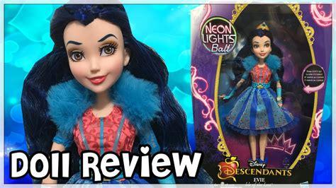 disney descendants neon lights dolls disney descendants neon lights evie review doll