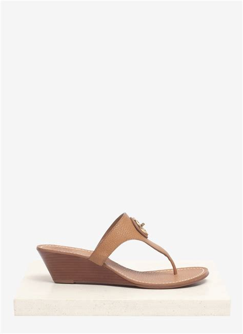 burch sandals wedge burch selma leather wedge sandals in brown neutral