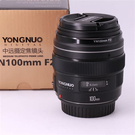 Lensa Yongnuo 100mm Yn100mm F2 For Dslr Canon in stock yongnuo yn100mm f2 af large aperture auto focus