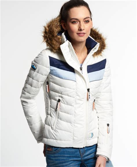 New Jaket Rock Navy Fuji the newest rational construction superdry womens chevron
