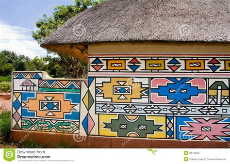 Design House Plans For Free Ndebele House Stock Photos Image 9114353