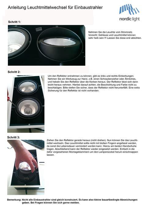 Led Einbaustrahler Wechseln by Leuchtmittelwechsel Einbaustrahler Nordic Products