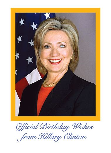 Clinton Birthday Card Funny Birthday Card Quot Official Hillary Birthday Quot From