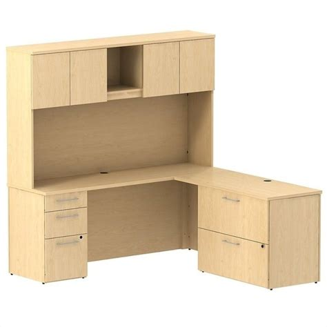 Maple Computer Desk With Hutch by Bush Bbf 300 Series 72 Quot L Shaped Desk With Hutch In