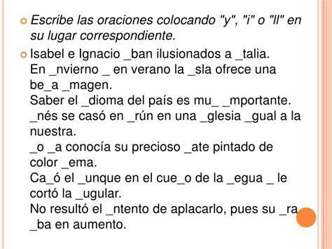 palabras con la letra y y ejemplos de palabras con y uso de la y y ll