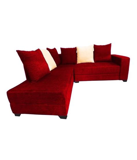 cozy sofa set cozy seatings tokyo l shape sofa set with lounger in red