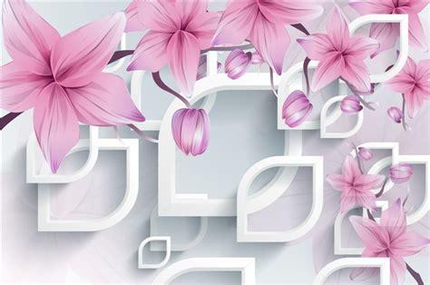Wallsticker Purple Flower Bunga Ungu tv fundo estilo italiano roxo projeto flor adesivos de