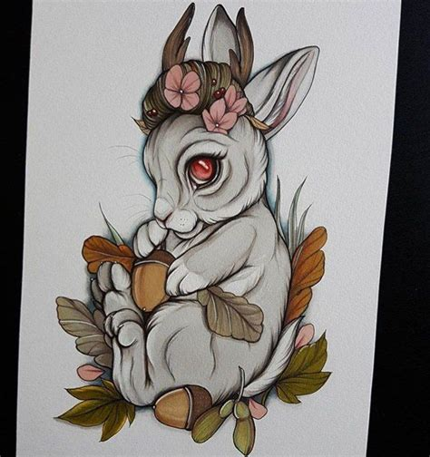 tattoo old school rabbit neo traditional rabbit tattoo www imgkid com the image