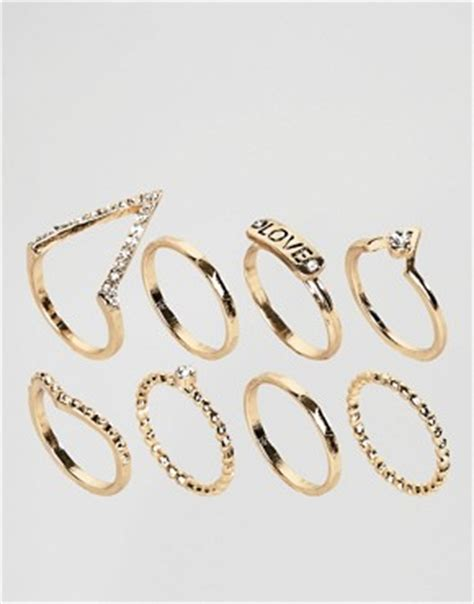 Asos Simple Gold Moon Ring jewellery necklaces bracelets earrings watches asos