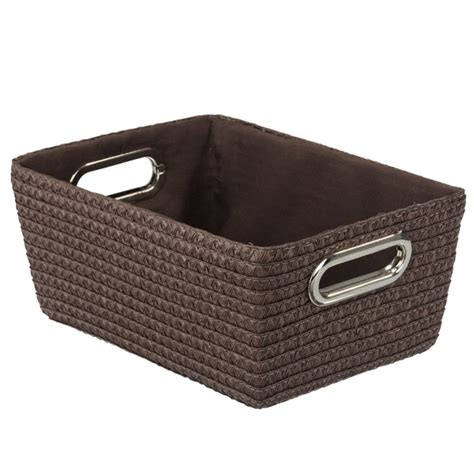 Wenko Chromo Rectangular Bathroom Storage Basket Brown Bathroom Storage Baskets