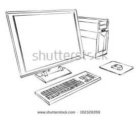 Computer Desktop Drawing Computer Drawing Stock Images Royalty Free Images