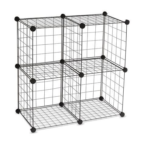 Wire Cube Shelf by Essential Home 4 Cube Wire Storage Unit Set