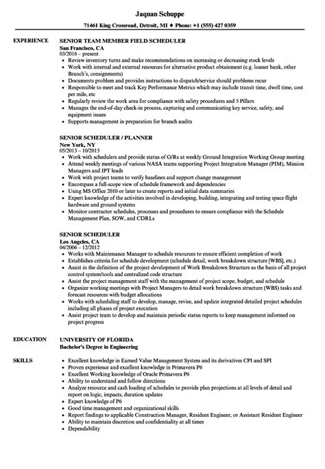 Construction Scheduler Sle Resume by Construction Scheduler Sle Resume Community Service Worker Cover Letter Songs For Writing Essays