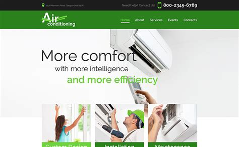 Heating Air Conditioning Co Website Template 52746 Heating And Air Conditioning Website Templates