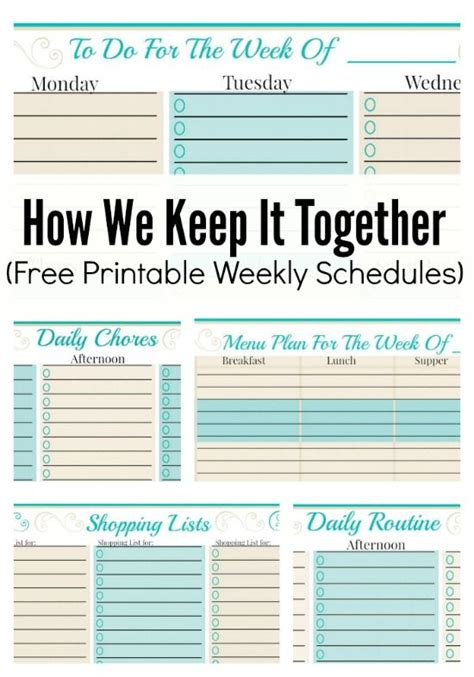 planner pads template how we keep it together and free weekly planner templates