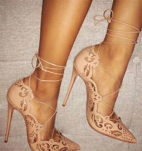 Heals Stap Beige shoes heels heels beige pointed toe