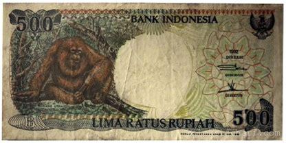 500 Rupiah Orang Utan 1992 Murah wang kertas gambar orangutan 500 rupiah koleksi johari