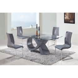global furniture d989dt dining table high gloss in grey