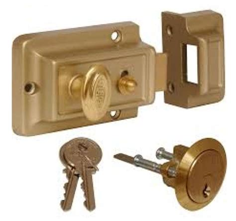 Front Door Latch Front Door Lock Nightlatch Type Cylinder Standard Latch Ebay