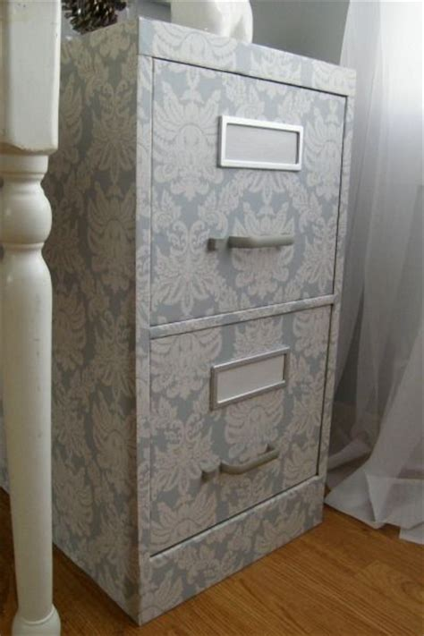 wallpaper cabinets pinterest this lovely filing cabinet adds some subtle style done