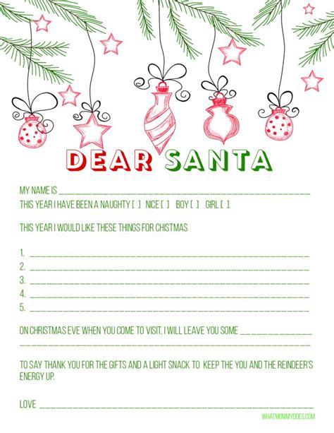 blank letter santa template printable