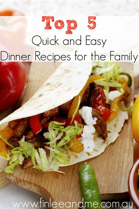 easy dinner recipes quick family meals finlee me