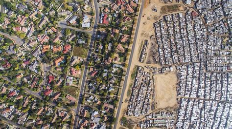 the vs the south wealth eye opening aerial photos explore the division between
