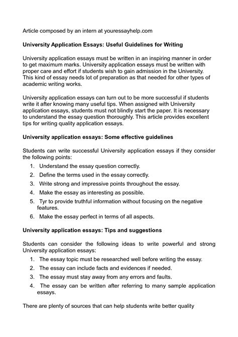 application letter sample college application essay
