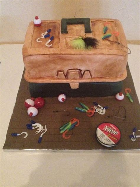 Wedding Tackle Box by Best 25 Fishing Grooms Cake Ideas On