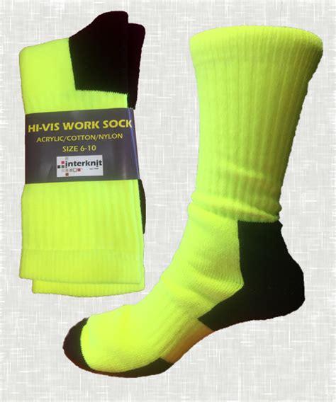 work socks 765 hi vis work socks interknit