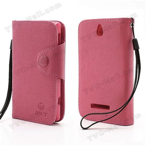 Sony Xperia E C1505 100 New mlt folio leather wallet cover for sony xperia e dual