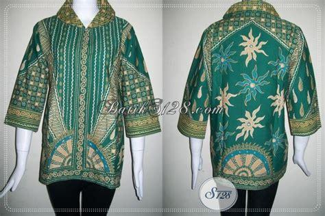 Gamis Batik Tulis Hijau busana batik tulis motif matahari warna hijau bls748t m