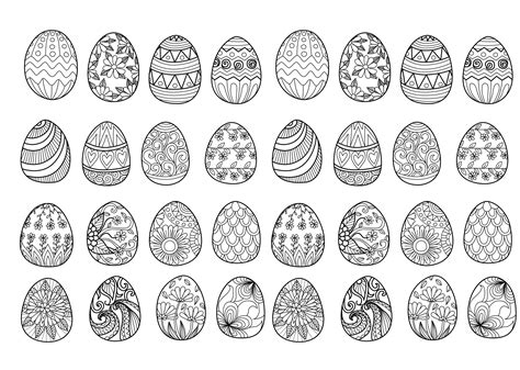 easter eggs coloring pages for adults easter eggs complex by bimdeedee easter coloring pages