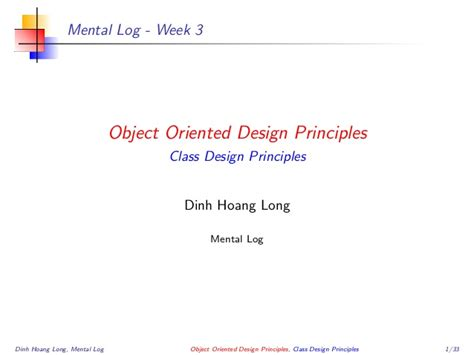 object oriented design principles object oriented design principle