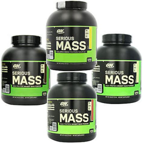 Best Quality Serious Mass 12lbs Optimum Nutrition On Penambah Berat optimum nutrition 6 lb serious mass weight gainer whey protein creatine glutamin ebay