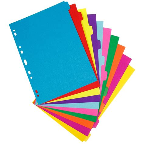 Pen Paper Inter X Folder Index Divider 10 Tabs A4 a4 subject dividers 10 part 3pk stationery filing b m