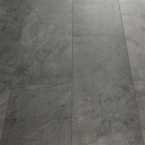 Quick Step Livyn Tile Grey Slate Luxury Vinyl Tile