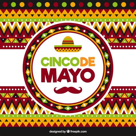 cinco de mayo background geometric background for cinco de mayo vector free