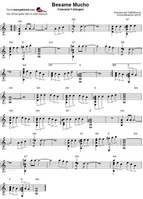 piano music on pinterest sheet music singers and lyrics besame mucho fingerstyle guitar sheet music ukulele