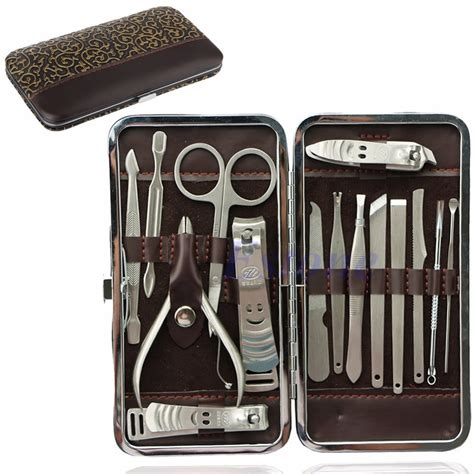 Promo Bagus Mainantool Set 15pcs 15pcs pedicure manicure set nail clippers cleaner cuticle grooming kit new in sets kits