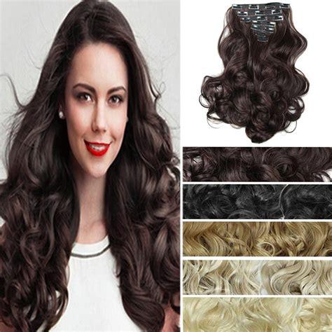 cheapest secret hair extensions 7pcs set false hair extension long curly color hair