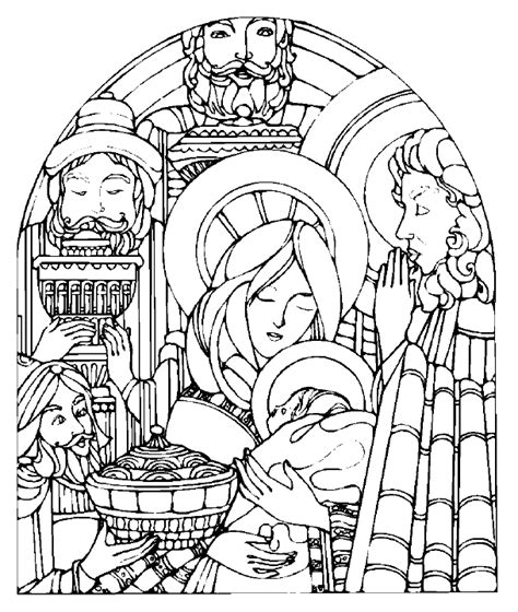 manger coloring pages