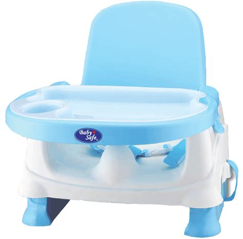 Baby Safe Booster Seat Kursi Makan Anak Blue feeding chair baby safe