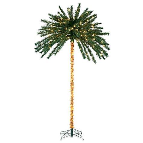 7 foot pre lit palm tree bed bath beyond