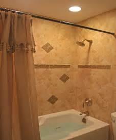 Small bathroom tiles ideas modern style white tub design used beige