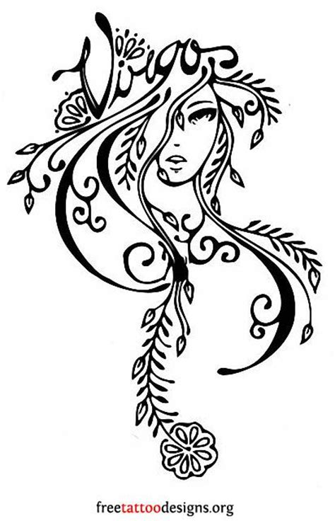 virgo tribal tattoo 17 best ideas about virgo tattoos on virgo